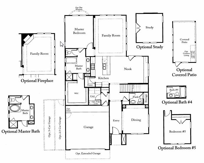 Limestone floor plan in avana esquel austin for Limestone house plans